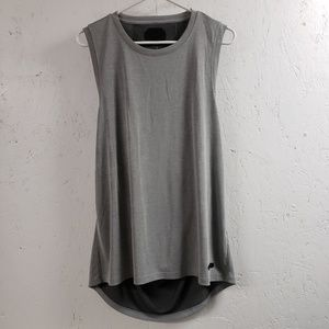 UNDER ARMOUR Gray Open Back Fitted Tank Top XL